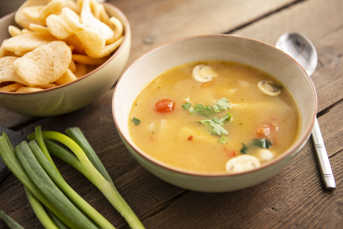 Tom Yam Soup With Coconut Milk
