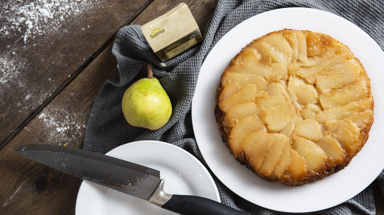 Gluten Free Pear & Ginger Upside-Down Cake