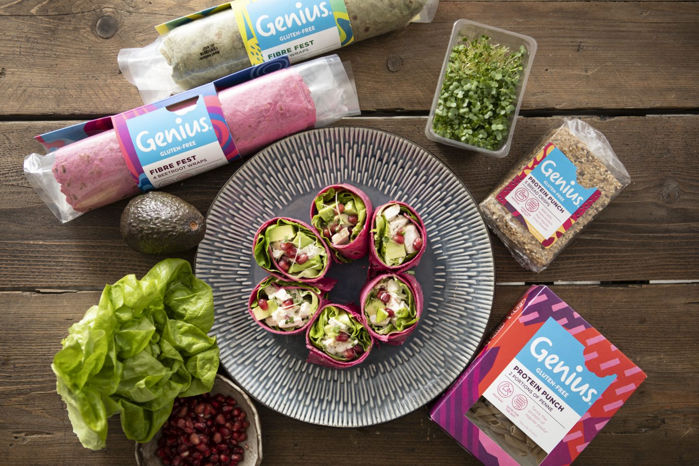 Chicken & Avo Beet Fibre Wraps | Genius Gluten Free